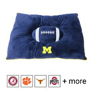 Pets First NCAA Football Pillow Dog Bed, Michigan Wolverines