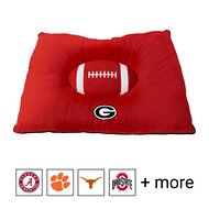 Pets First NCAA Football Pillow Dog Bed, Georgia Bulldogs