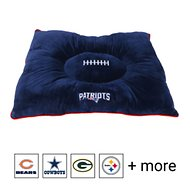 Pets First NFL Football Pillow Dog Bed, New England Patriots