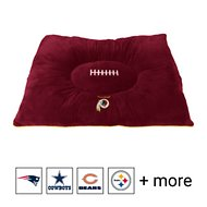 Pets First NFL Football Pillow Dog Bed, Washington Redskins