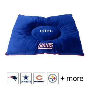 Pets First NFL Football Pillow Dog Bed, New York Giants
