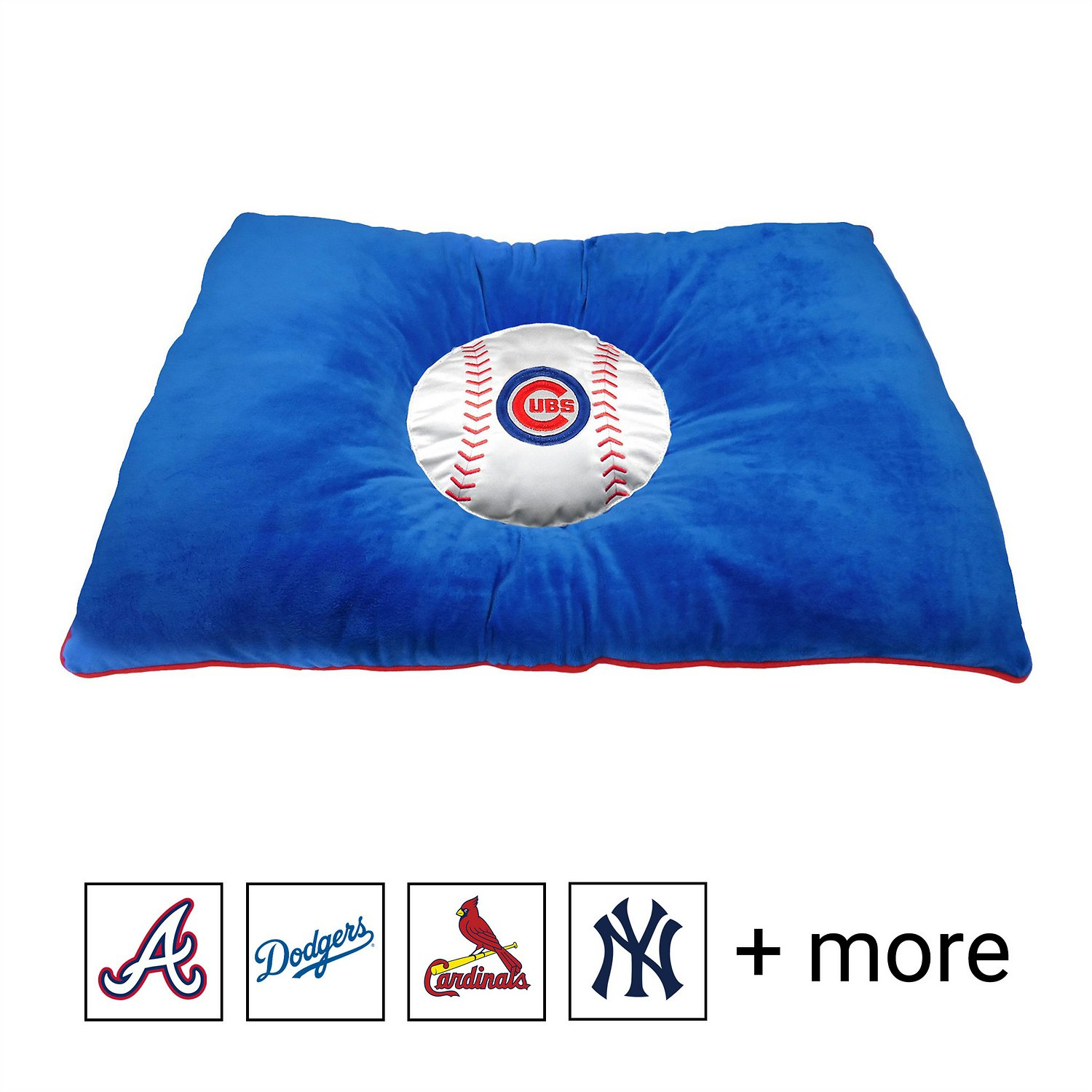 brand new 5fc2c 360d7 Pets First MLB Baseball Pillow Dog Bed, Chicago Cubs - Chewy.com
