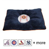 Pets First NCAA Baseball Pillow Dog Bed, Houston Astros