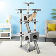 Frisco 72-in Faux Fur Cat Tree & Condo