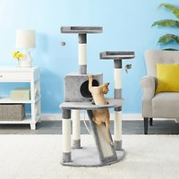 Deals on Frisco 48-in Faux Fur Cat Tree & Condo