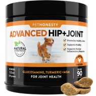PetHonesty Advanced Hip + Joint Support Soft Chews with MSM Dog Supplement, 90 count