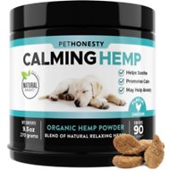 PetHonesty Hemp Calming Anxiety & Hyperactivity Soft Chews Dog Supplement, 90 count