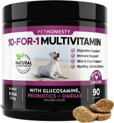9. PetHonesty 10-for-1 Multivitamin with Glucosamine