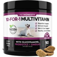 PetHonesty 10-for-1 Multivitamin with Glucosamine Snacks Soft Chews Dog Supplement, 90 count