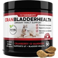 PetHonesty Cranberry UTI Strength Snacks Urinary Tract + Kidney Health Soft Chews Dog Supplement