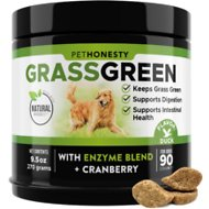 PetHonesty GrassGreen Snacks Cranberry Extract with Probiotics Soft Chews Dog Supplement, 90 count