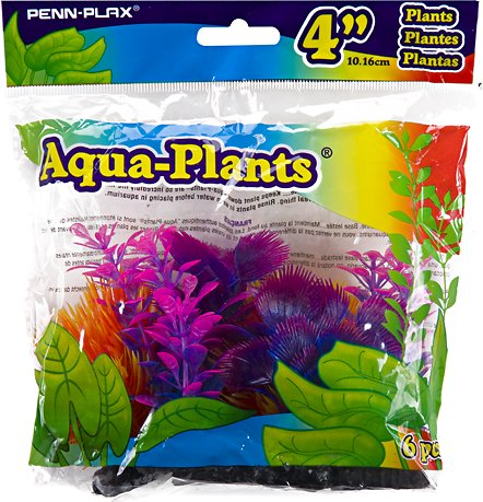 Penn-Plax Betta Multi-Color Aquarium Plants, 6 count