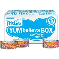 Friskies YUMbelievaBOX YUM-azing Extra Gravy Chunky Variety Pack Canned Cat Food, 5.5-oz, case of 40