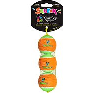 Spunky Pup Squeak Tennis Ball Dog Toy, Small