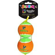 Spunky Pup Squeak Tennis Ball Dog Toy, Large