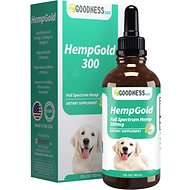 Fur Goodness Sake HempGold Hemp Oil Dog & Cat Supplement, 300 mg, 1-oz bottle