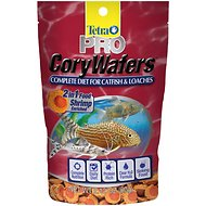 Tetra TetraPro 2in1 Shrimp-Enriched Cory Wafers Catfish & Loaches Fish Food, 2.12-oz