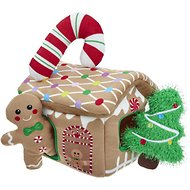 Frisco Hide and Seek Plush Gingerbread House Puzzle Dog Toy