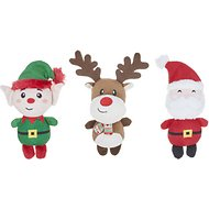 Frisco Santa's Helpers Plush Dog Toy, 3-Pack