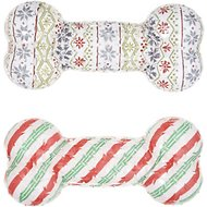 Frisco Holiday Edition TPR Dog Bone, 2-Pack