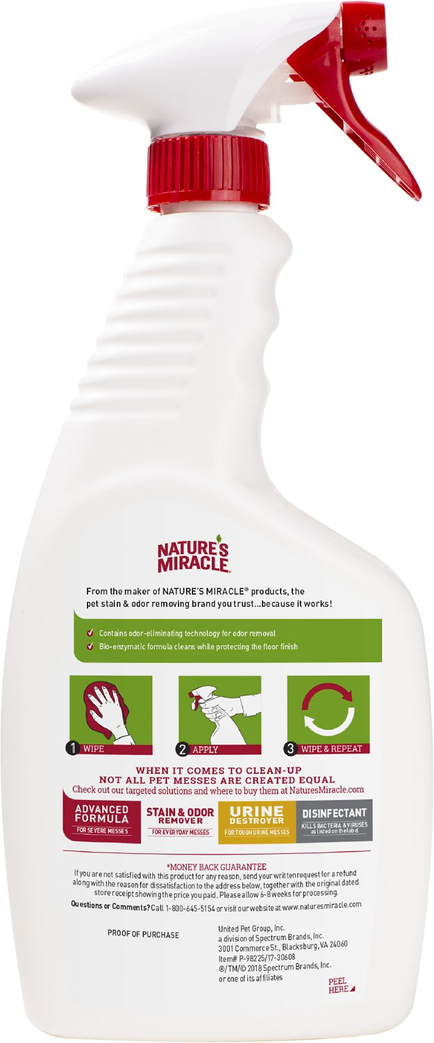 Nature's Miracle Dual Action Hard Floor Stain & Odor Remover, 24-oz bottle