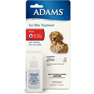 Adams Ear Mite Treatment for Dogs & Cats, 5-oz bottle