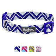 Blueberry Pet Zigzag Tribal Pattern Dog Collar, Navy Blue, Small