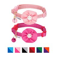 Blueberry Pet The Beloved Cat Collar with Bell & Flower, 2 count, Baby Pink & Shocking Pink