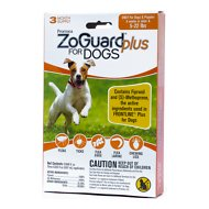 ZoGuard Plus Flea & Tick Treatment for Dogs, 5-22 lbs, 3 treatments
