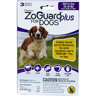 ZoGuard Plus Flea & Tick Treatment for Dogs 23-44 lbs, 3 treatments