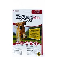 ZoGuard Plus Flea & Tick Treatment for Dogs 45-88 lbs, 3 treatments