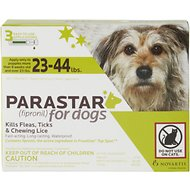 Parastar Flea & Tick Treatment for Dogs (23-44lbs), 3 treatments