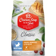 Chicken Soup for the Soul Kitten Chicken, Brown Rice & Pea Recipe Dry Cat Food