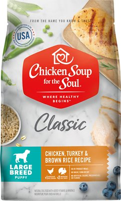 Chicken Soup for the Soul Large Breed Puppy Chicken, Turkey & Brown Rice Recipe Dry Dog Food