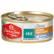 Chicken Soup for the Soul Kitten Chicken & Turkey Recipe Pate Canned Cat Food, 5.5-oz, case of 24