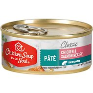 Chicken Soup for the Soul Indoor Chicken and Salmon Recipe Pate Canned Cat Food, 5.5-oz, case of 24