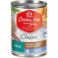 Chicken Soup for the Soul Puppy Pate Chicken, Turkey & Duck Recipe Canned Dog Food, 13-oz, case of 12