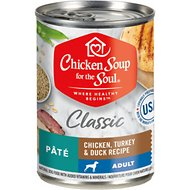 Chicken Soup for the Soul Adult Pate Chicken, Turkey & Duck Recipe Canned Dog Food, 13-oz, case of 12