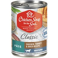 Chicken Soup for the Soul Mature Chicken, Turkey & Duck Recipe Canned Dog Food, 13-oz, case of 12