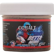 Cobalt Aquatics Betta Minis Fish Food, 1.2-oz jar