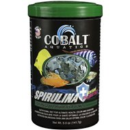 Cobalt Aquatics Spirulina Flakes Fish Food, 5-oz jar
