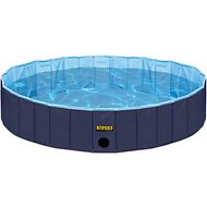 KOPEKS Outdoor Portable Dog Swimming Pool, Blue, Large