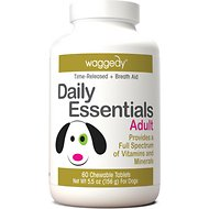 Waggedy Daily Essentials Multivitamin Adult Dog Supplement, 60 Count
