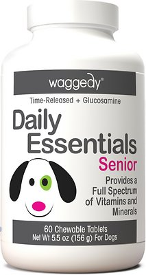 2. Waggedy Daily Essentials Multivitamin Senior Dog Supplement