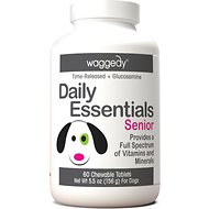 Waggedy Daily Essentials Multivitamin Senior Dog Supplement, 60 Count