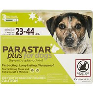 Parastar Plus Flea & Tick Treatment for Dogs (23-44lbs), 3 treatments