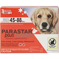 Parastar Plus Flea & Tick Treatment for Dogs (45-88lbs), 3 treatments