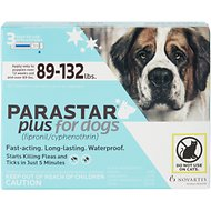 Parastar Plus Flea & Tick Treatment for Dogs (89-132lbs), 3 treatment