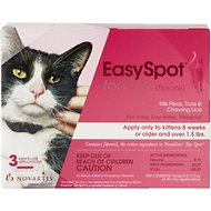 EasySpot Flea & Tick Treatment for Cats, 3 treatments