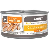 Simply Nourish Essentials Chicken Recipe Adult Pate Canned Cat Food, 3-oz, case of 24